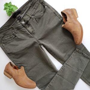 Torrid Olive Green Skinny Jeans Size 16